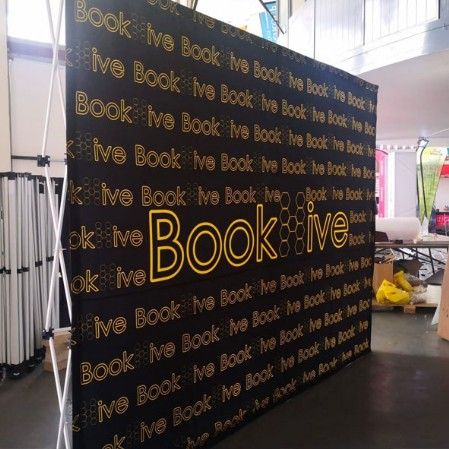 Branded- banner walls by Banner Systems